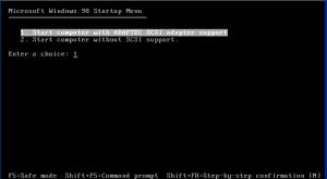 Выбор загрузки SCSI