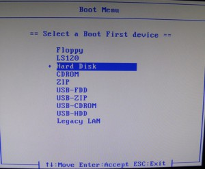 Quick boot menu